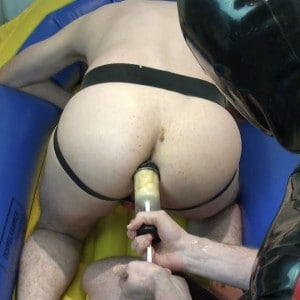 Dirty Anal Play in Rubber Boat (Part I)