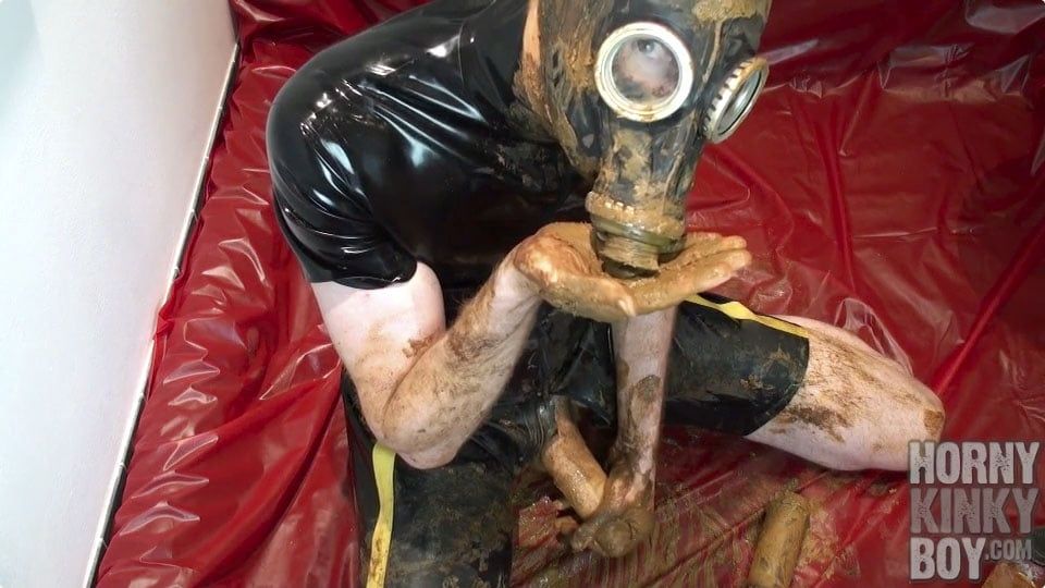 Dirty Rubber Piss And Scat Slut