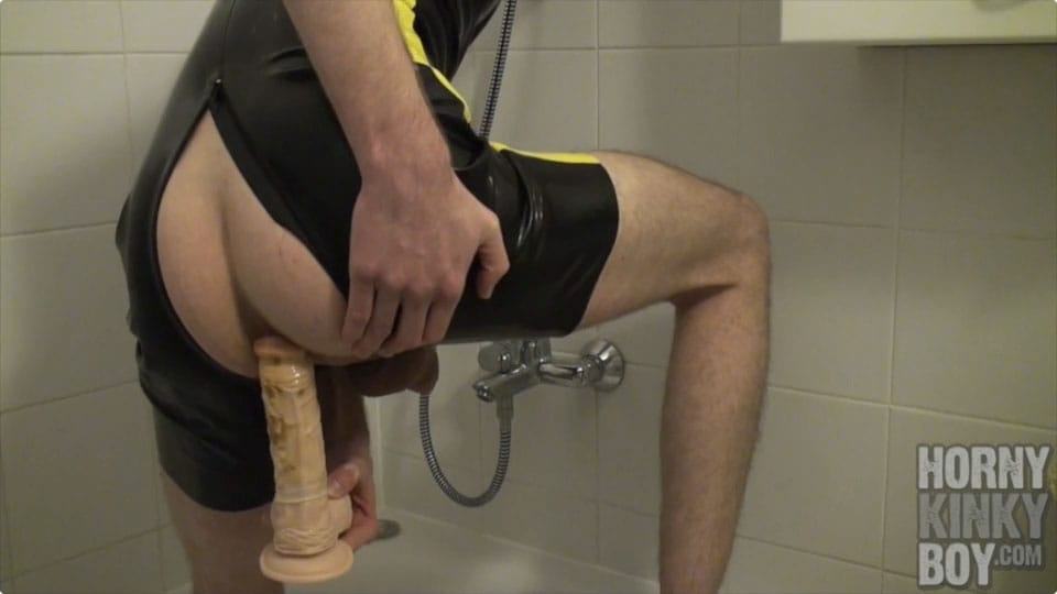 Dirty Asshole Fucking With Dildo In Bath Tub (Part II)