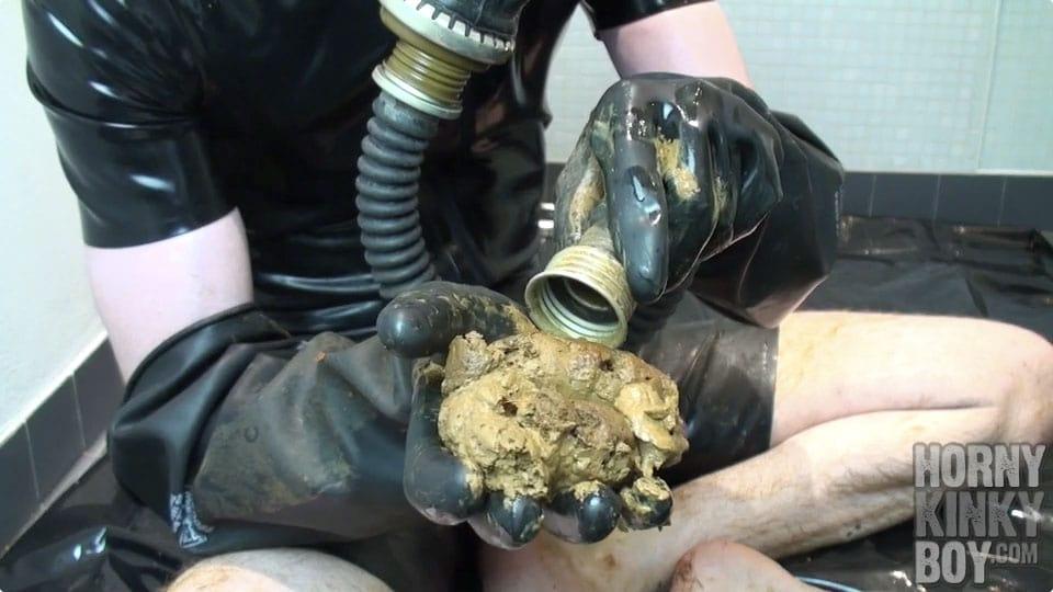 Scat Session In Heavy Rubber Gear (Part II)