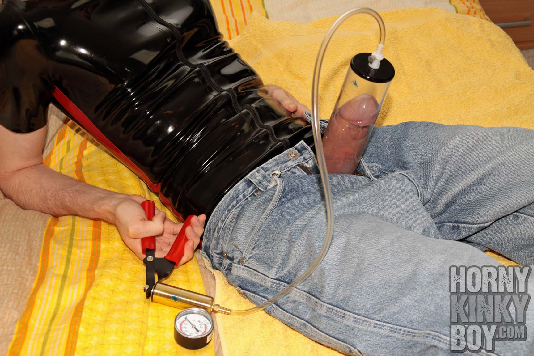 Rubber Skater Boy With Vacuum Pumped Dick