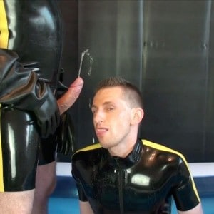 Two Rubber Gay Boys and their Wet Pool Party (Part I)