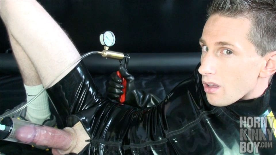 Nice Rubber Sneaker Boy Into Dick Pumping (Part I)