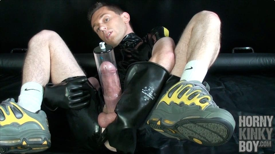 Nice Rubber Sneaker Boy Into Dick Pumping (Part II)