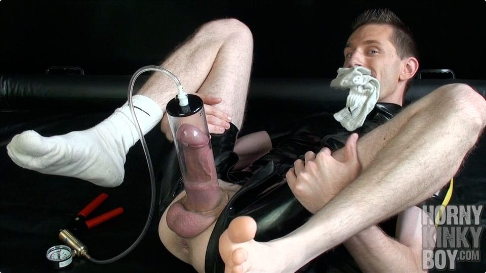 Nice Rubber Sneaker Boy Into Dick Pumping (Part III)