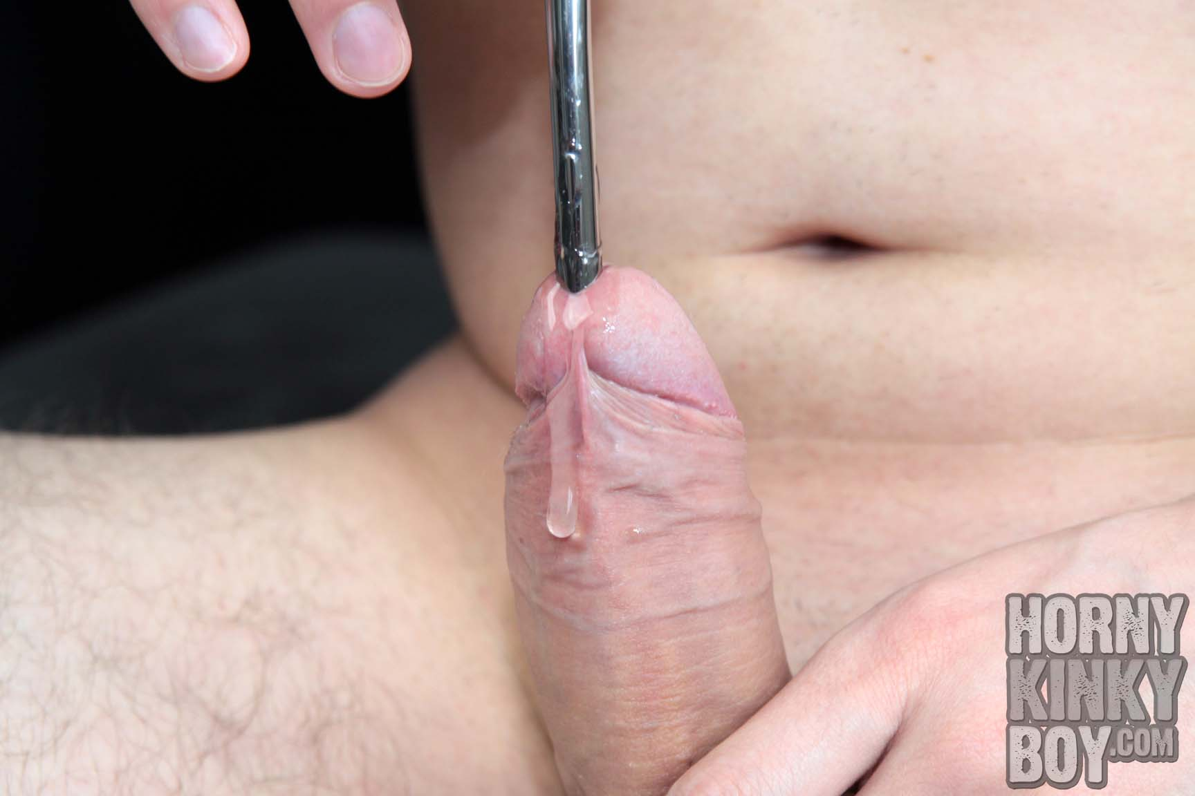 Gay Boy Is Sounding His Dick For The First Time