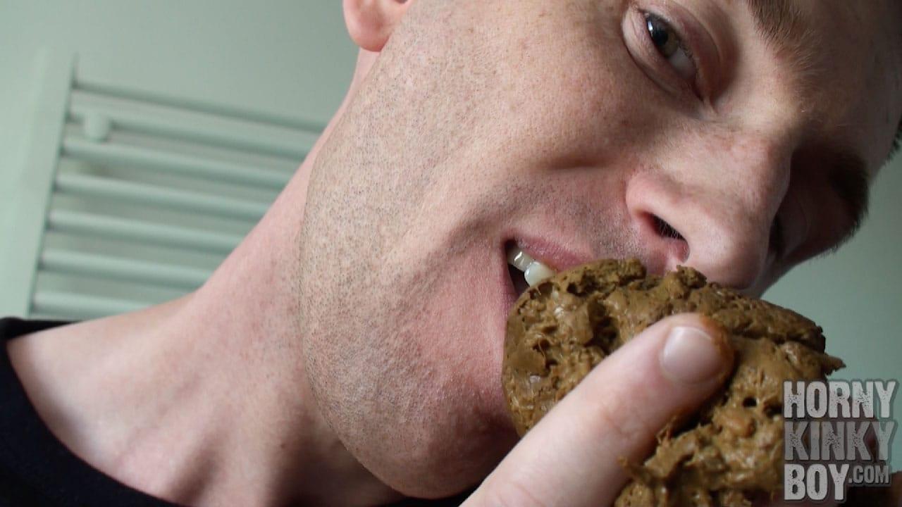 Enjoying A Little Taste Of Boy Shit For Breakfast