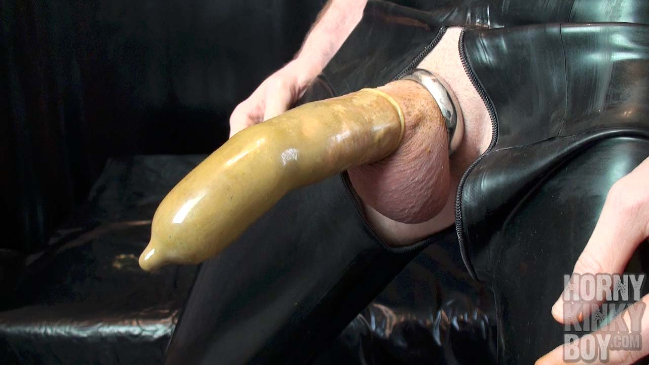 Crap Wanking In Latex Overall (Part I)