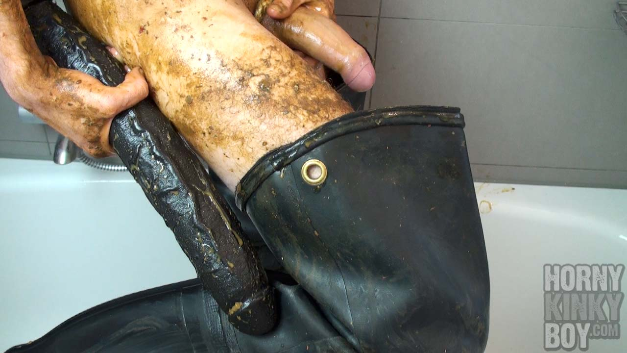 Filthy Fecal Fetish Fun In Black Waders (Part II)