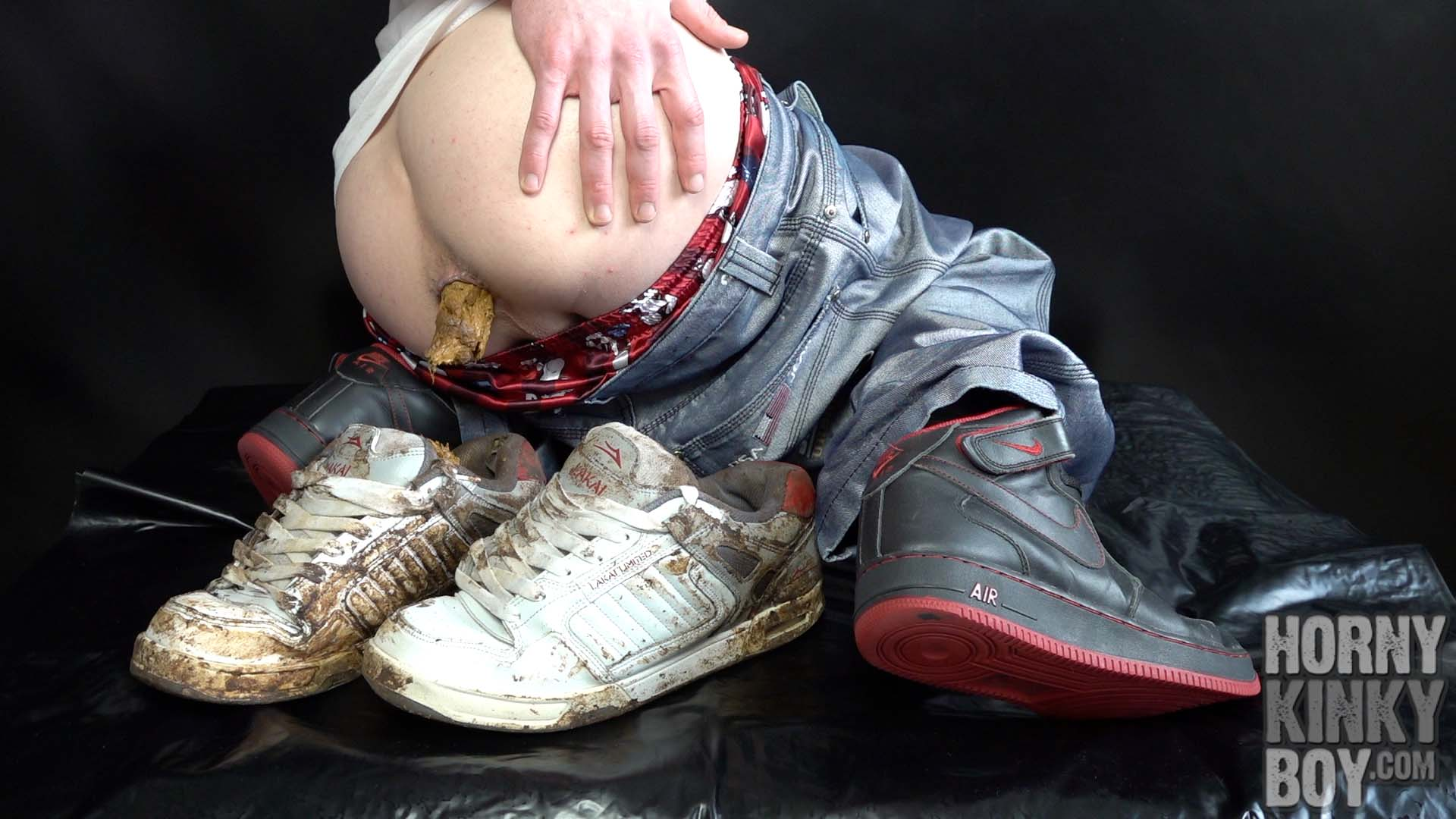 Using My Scat Sneakers As Dump For My Shit And Cum