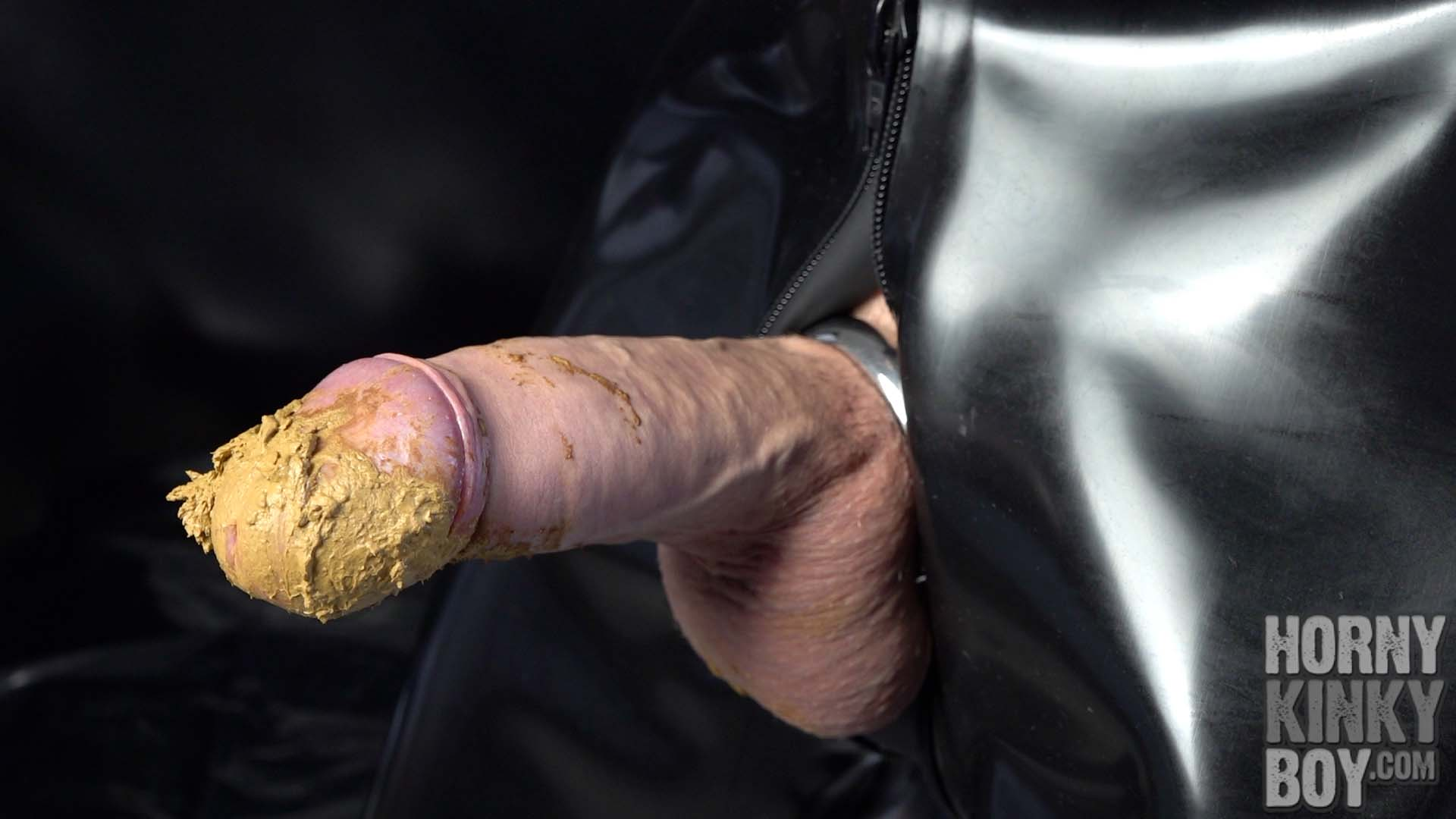 Uncut Penis With Shit Covered Dick Head