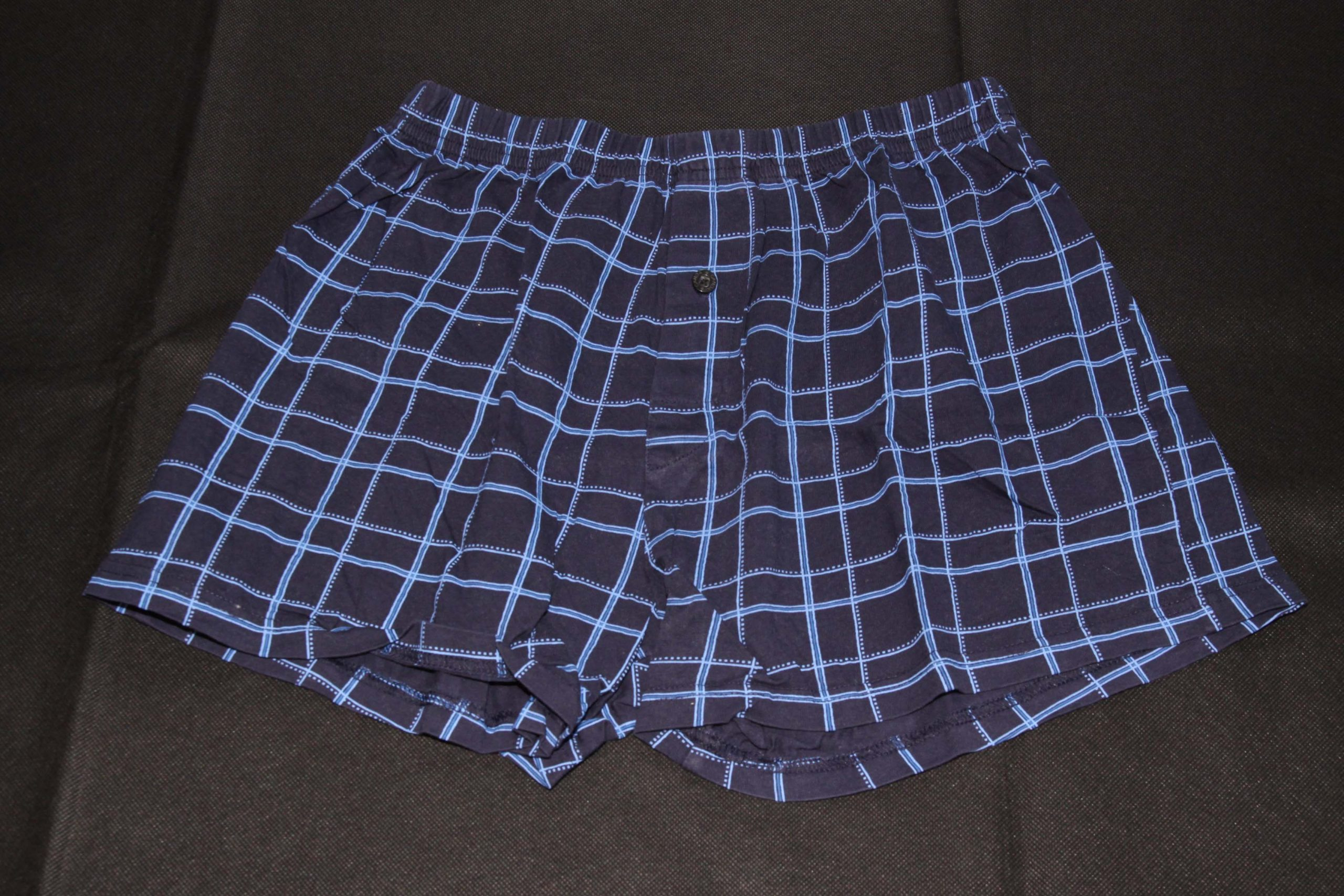 Boxer Shorts – Dark Blue With Blue Pattern