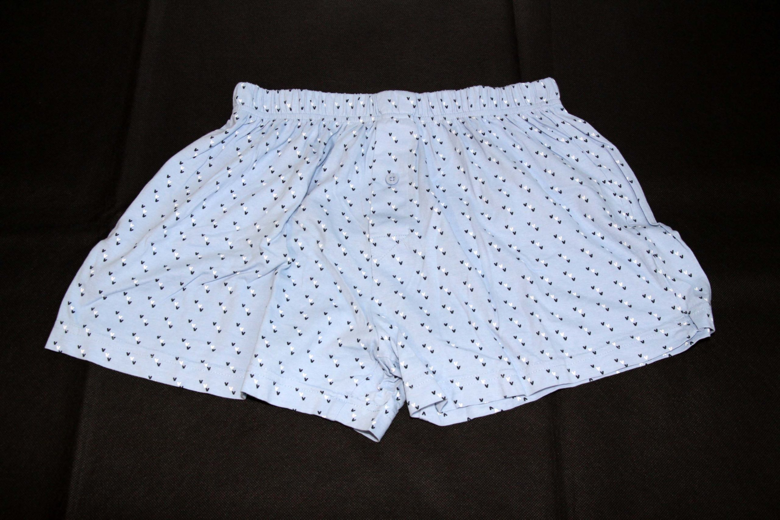 Boxer Shorts – Light Blue With Pattern