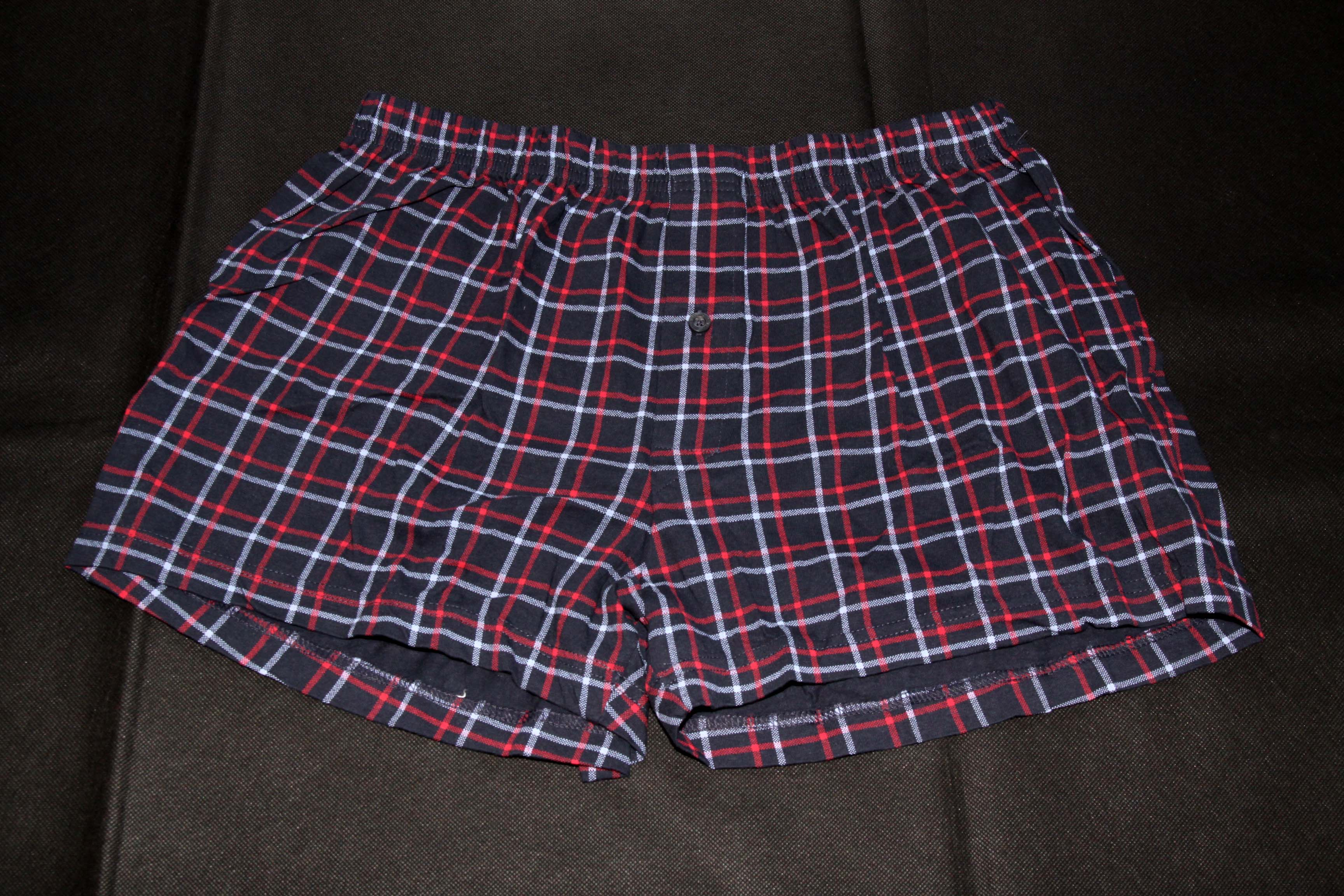 Boxer Shorts – Dark Blue With Red Pattern