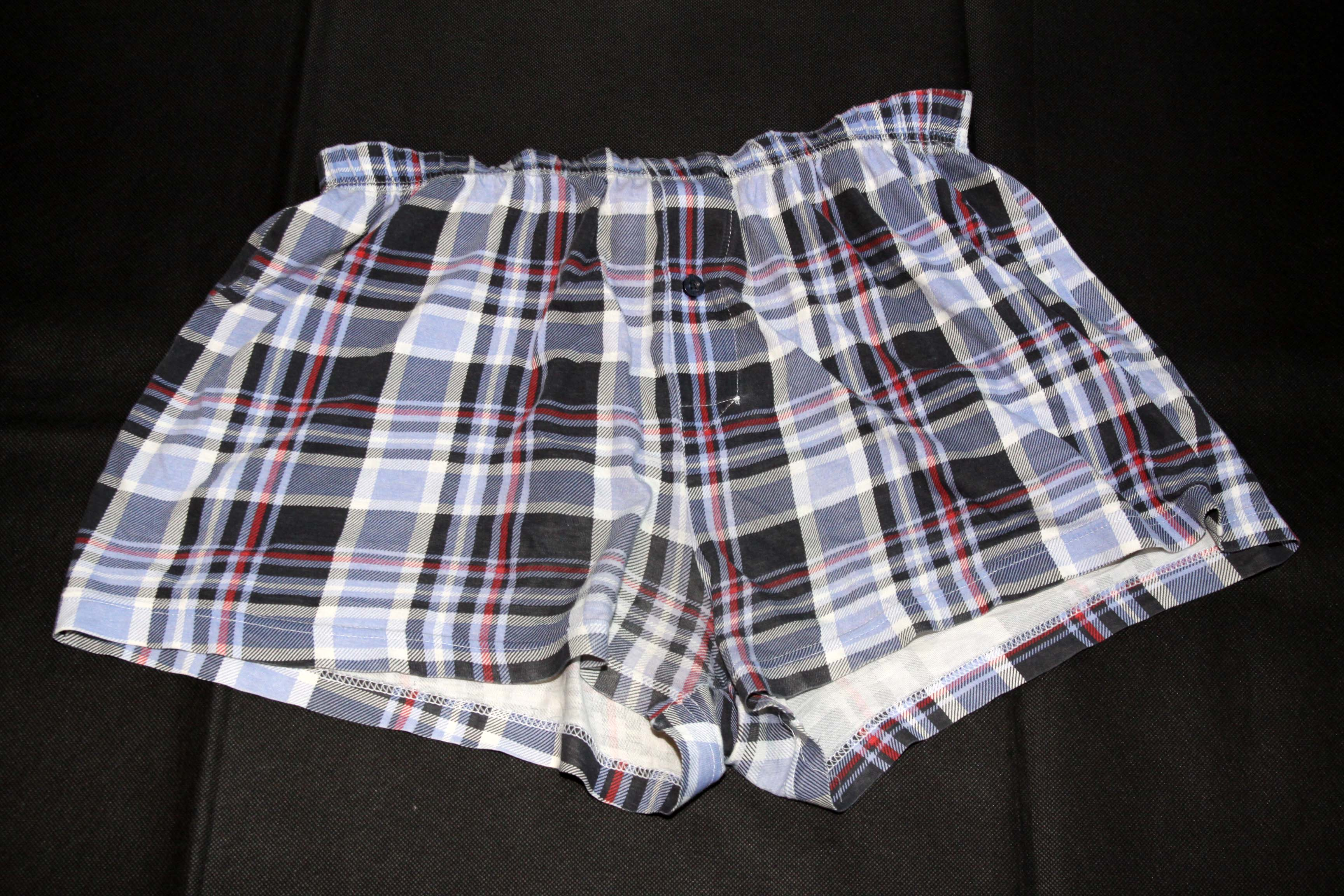 Boxer Shorts – Light Blue With Different Color Pattern