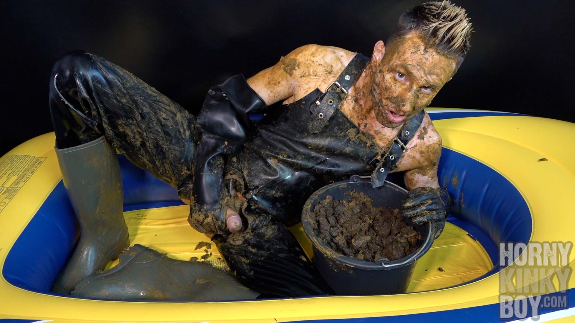 Filthy Rubber Boat Fun With Horse Droppings
